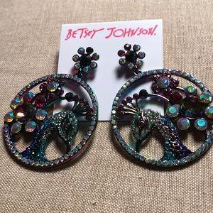 New Betsey Johnson Peacock Earrings